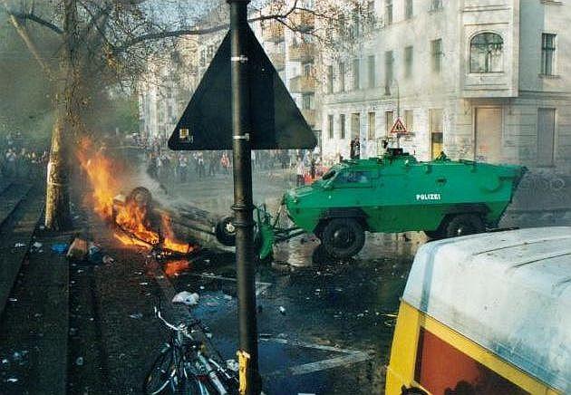 Symbolbild: Ausschreitungen Linksextremismus