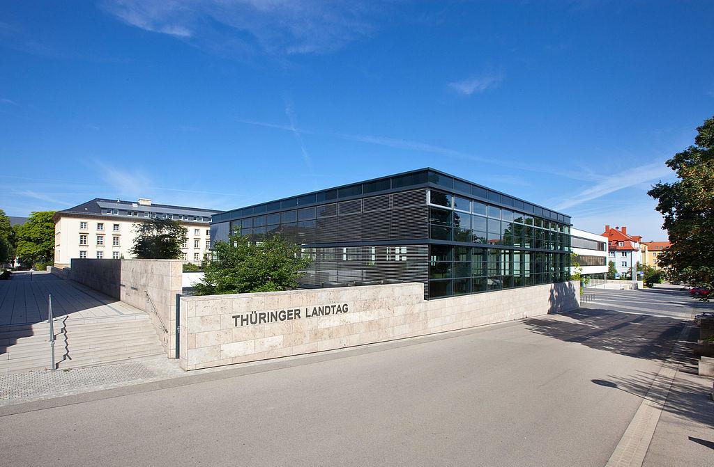Gebäude des Thüringer Landtags in Erfurt